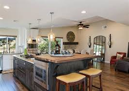 Kitchen islands with breakfast bar Curved Kitchen With Butcher Block Counter Breakfast Bar Island Designing Idea 37 Gorgeous Kitchen Islands With Breakfast Bars pictures