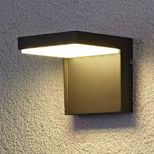 modern rachel led outdoor wall light aluminium lights co uk