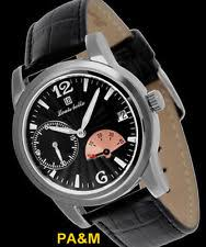 louis bolle watches louis bolle fissure mens automatic luxury watch new black leather