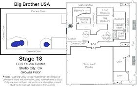 floor plan of big brother house big brother house layout best floor plan of big brother
