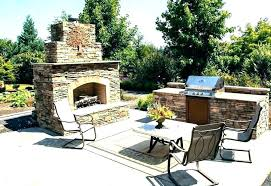 outdoor kitchen with fireplace designs