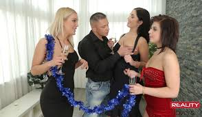 New Year s After Party Drilling Hot Babes XXX Orgy VR Porn.