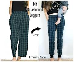 to joggers refashion brilliant clothes tutorials ideas and clothing s for diy winter pants skirts women
