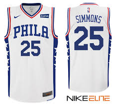 simmons 76ers jersey. ben simmons 76ers #25 white home jersey n