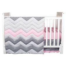 trend lab crib bedding trend lab cotton candy chevron 3 piece crib bedding set