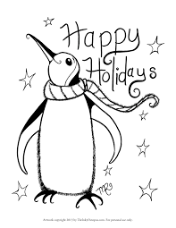 Small Picture Printable Holiday Coloring Pages For glumme