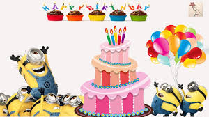 happy birthday cake with minions deable me 1 2 3
