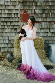 etsy finds dip dyed ombre wedding dresses deer pearl flowers
