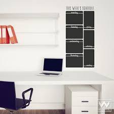 office chalkboard. Vertical Week Schedule Chalkboard Vinyl Wall Decals For Dorm Decor Office