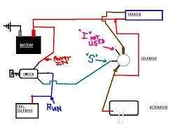 complete me wiring diagram it doesn t matter as long as the output of the alternator goes to a hot all the time positive circuit