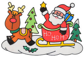 """<b>Новогоднее</b> оконное <b>украшение Winter Wings</b> """"Санта"""", 20 х 31 см ..."""