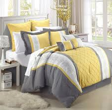 image of grey and yellow bedroom modern
