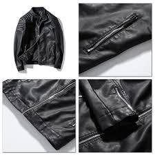 men leather jacket 2018 designer brand luxury faux leather jackets and coats windbreakers louson cuir homme drop 1439