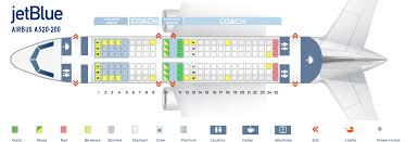 Jetblue Chart Seat Map Airbus A320 200 Jetblue Best Seats In Plane