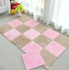 kitty puzzle rug long fur hair puzzle foam floor baby crawling cutting area rug play cat