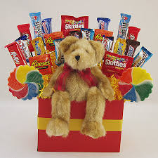 104 teddy bear candy bouquet gift basket