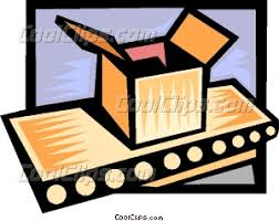 conveyor belt clipart. package on a conveyor belt clipart