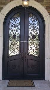 wrought iron exterior doors. Round Top Wrought Iron Front Entry Doors For Villa Exterior G