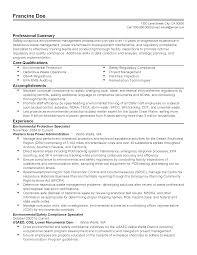 Regulatory Compliance Specialist Sample Resume Mitocadorcoreano Com