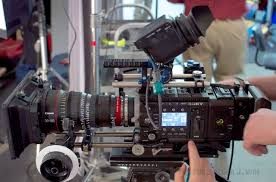 sony f55. sony f55, with 960x540 oled evf, raw recorder, solid camera power adapter, f55 a