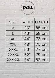 T Shirt Size Chart M Xxxxxl People Animal World