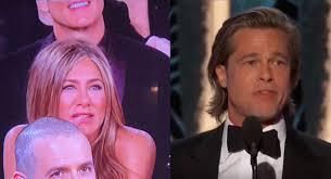 Jennifer Aniston e Brad Pitt ai Golden Globes 2020 (video)