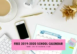 College Planners 2020 Free School Calendar 2019 To 2020 With Weekly Student Planner