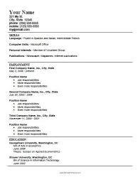 Printable Resume Template Astounding Design Printable Resume Template 8 Resume  Templates Download