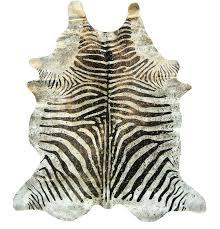 metallic zebra brown on beige with gold cowhide print rug uk