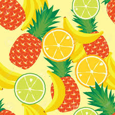 Fruit Pattern Inspiration Shabby Chic Fruits Pattern Art Print A Nice Tone Of The Colours