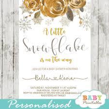 Snowflake Baby Shower Invitations Gender Neutral Snowflake Baby Shower Invitations D403 Baby