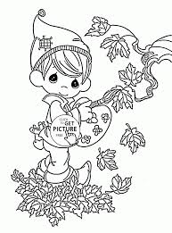 Small Picture Coloring Pages Funny Fall Coloring Pages For Kids Autumn Leaves