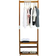Coat Hanger And Shoe Rack Amazon NNEWVANTE Coat Rack Bench Shoes Rack Hallway Hall Tree 29