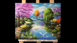 Small Picture Beautiful gardens and flowers Acrylic Painting YouTube