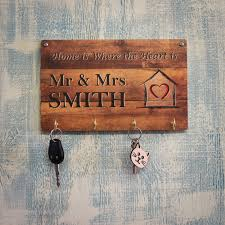 personalised wall mounted key holder