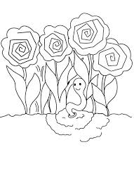 Small Picture Peonies Roses Garden and Earthworm Coloring Pages Batch Coloring