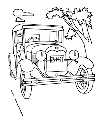 Small Picture Model T Car on the Road Coloring Pages Color Luna