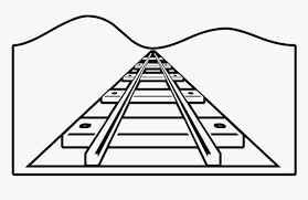 This train coloring page will keep your budding conductor engaged! Free Png Download Train Tracks Coloring Pages Png Images Railway Track For Colouring Transparent Png Kindpng