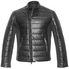 armani exchange men s faux leather moto puffer jacket previousnext