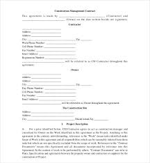 Contract Forms For Construction 10 Sample Construction Contract Forms 34794600056 Construction