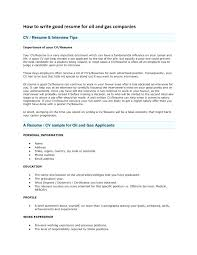 How To Write Up A Resume Oil And Gas Resume Format About Write Up