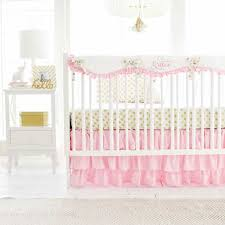 pink and gold crib bedding new