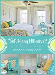 bedroom ideas for teenage girls teal and yellow. Modren Teenage Teen Room Makeover  Gray Yellow Turquoise HelloBeautiful Throughout Bedroom Ideas For Teenage Girls Teal And Yellow D
