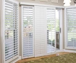 sliding glass door shutters in