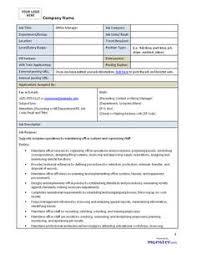 Simple Job Description Template | Business Forms | Pinterest | Job ...