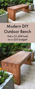 Williams Sonoma Inspired DIY Outdoor Bench   Bench, Modern and Easy