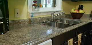 kitchen with new plastic laminate countertops