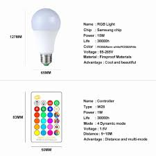 Light Bulb Levels Ampoule Led E27 Rgb Rgbw Led Bulb 85 265v 5 Levels Dimmable E27 Globe Bubble Lamp A50 A60 Spotlight With 24 Key Rgbw Controller