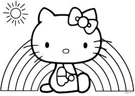 Small Picture Hello Kitty Rainbow coloring page Free Printable Coloring Pages