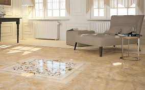 modern tile flooring ideas. Mural Marble Like Porcelain Tile Flooring With Gray Fabric Lounge Chair And  Small Ottoman Also Round Wooden Table In Contemporary Living Room Design Modern Tile Flooring Ideas U